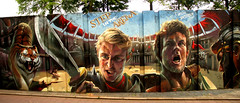 graffiti in Eindhoven (wojofoto) Tags: eindhoven nederland holland netherland berenkuil stepinthearena graffiti streetart wojofoto wolfgangjosten