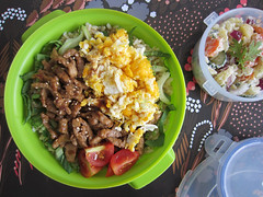 Bento 606 (Sandwood.) Tags: meal food bento lunch lunchbox donburi meat vegetables japanesepotatosalad cooking dish egg