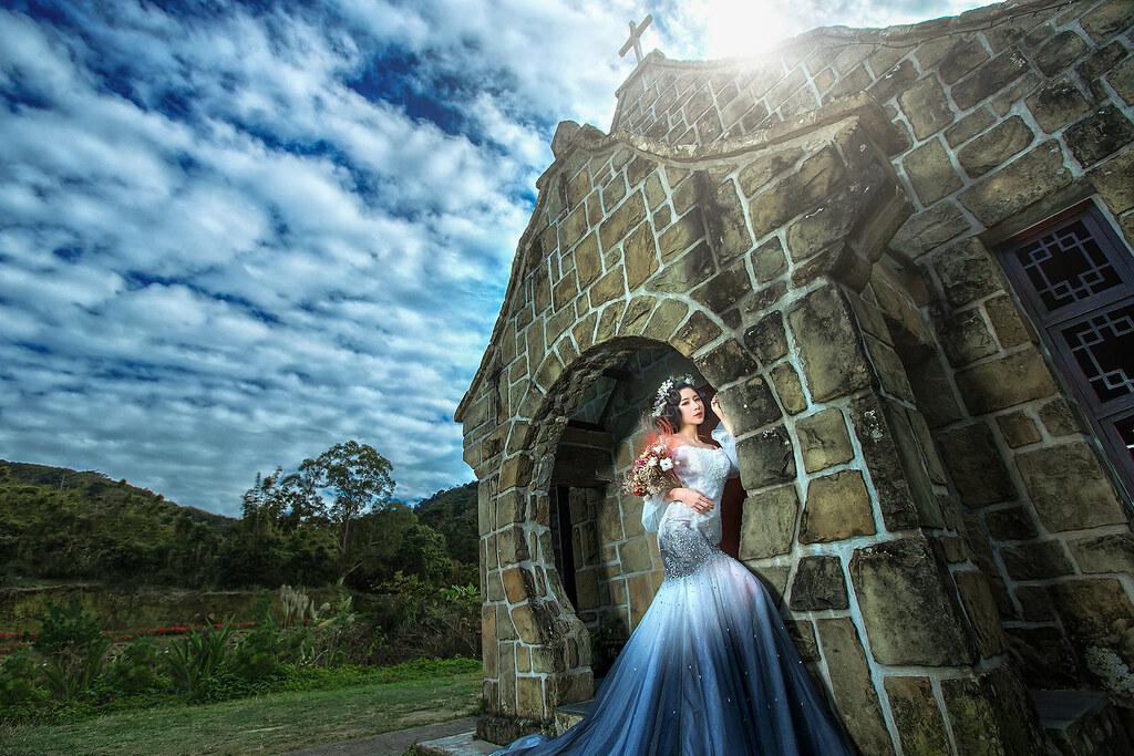 婚紗攝影-婚紗照-藝術照-桃園-逆光-仙仙風-基國派老教堂-6690
