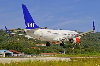 JSI/LGSK: ScandinavianAirlines SAS Boeing B737-783 LN-RRB