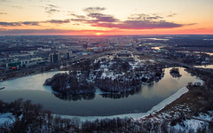 Minsk Sunset (free3yourmind) Tags: minsk belarus sunset aerial xiaomi mi drone quadcopter clouds cloudy lake river city view idylic
