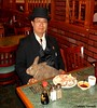 Dr. Takeshi Yamada and Seara (Coney Island sea rabbit). Brooklyn, New York.     20160621Tue. DSCN6834=p2020C2. QUEENS BUFFET, 13 course dinner, one (searabbit29) Tags: takeshiyamada fineartexhibitions museumcollections famous japanese japaneseamerican artist osaka tokyo japan tv painting sculpture photography graphicdesign sideshow freakshow banner gaff performance fashiondesign fashion tophat jabot jewelrydesign victorian gothic goth steampunk dieselpunk fashiondesigner playboy bikini roguetaxidermist roguetaxidermy taxidermist taxidermy specialeffect cabinetofcuriosities dimemuseum seara searabbit coneyisland mythiccreature cryptozoology cryptid brooklyn newyorkcity nyc newyork