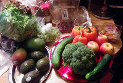 20170618 1234 - Hungry Harvest - 28 (Clio CJS) Tags: 20170618 201706 2017 food tomato tomatoes lettuce mango mangoes grape grapes broccoli avocado avocados cherry cherries pepper peppers orangepepper orangepeppers cucumber cucumbers apple apples virginia alexandria clintandcarolynshouse kitchen deliveryservice service delivery hungryharvest