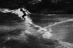 Splish, splash. I was takin 'a bath. (Gudzwi) Tags: bath totakeabath seaside sea meer mediterran mediterranean welle wave jump jumping springen sprung baden sw schwarzweis bw 7dwfthursdaysbwandsepia blackandwhite wasser water dotgain15 mallorca spain spanien balearen strandleben beachlife felsen rocks splishsplash