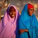 Portrait of smiling somali teenage girls, Woqooyi Galbeed province, Baligubadle, Somaliland