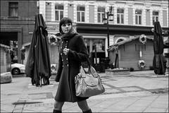 6_DSC6650 (dmitryzhkov) Tags: russia moscow documentary street life human monochrome reportage social public urban city photojournalism streetphotography people bw dmitryryzhkov blackandwhite everyday candid stranger face streetportrait portrait look lookback walk pedestrian walker outdoor passerby pretty woman shawl