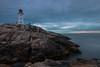 Peggy's Cove, Nova Scotia (B.E.K. Photography) Tags: peggys cove nova scotia lighthouse light sunset longexposure ocean rocks sky clouds outdoor landscape seascape water nikon d800 nikon173528 canada