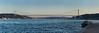 Bridge (Mucahit Cetin) Tags: bridge bosphorus istanbul eurasia asia europe sea boat blue emirgan turkey turkiye panorama panoramic fsm fatihsultanmehmetbridge secondbridge 2ndbridge cablestayed suspensionbridge