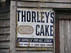 Thorley's Cake (Nivek.Old.Gold) Tags: thorleyscake stock cattle kingscross london enamel sign advertising