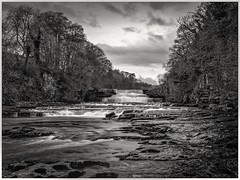 Lower Falls Aysgarth (urfnick) Tags: canon eos 1300d sundaylights yorkshire dales national park bw blackandwhite longexposure le