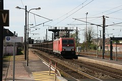 DBC E186 332-3 (Harrys Train photos) Tags: traxx bombardier e186 dbcargo dbc trein train hazebrouck e186332 railway railroad ecr eurocargorail