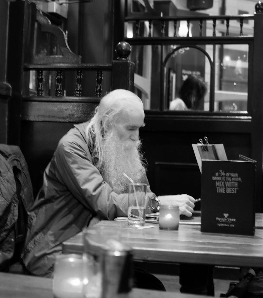 candid oldman