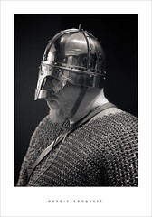 Nordic Conquest (Parallax Corporation) Tags: viking southport southportatkinsongallery nordic blackandwhite monochrome beard armour chainmail portrait candid naturallight gallery