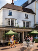 Peeps on the Pantiles (aquanout) Tags: people colour building architecture kent tunbridgewells chairs tables windows