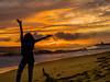 Sunset and Sunrise in Kauai, Hawaii (Rui_Teixeira) Tags: rteixeir break hawaii kauai spring vacation rteixeirgmailcom sunset seascape landscape ocean beach water sky silhouette travel usa hi sea