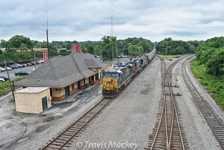 CSX G143-21 at the old SAL Depot in Monroe