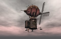 Come And Ride On My Airship, You Said! It'll Be Fun, You Said! #1 (Mr Darkstone) Tags: steampunk airship drd death row designs sl second life