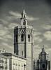 El Miguelete - Bell Tower Valencia Cathedral ( Plaza de La Reina) (Split Tone Effect)  (Olympus OMD EM5II & mZuiko 12-40mm f2.8 Pro Zoom) (markdbaynham) Tags: valencia spain splittone belltower elmiguelete cathedral espana espanol olympus omd em5 em5mk2 em5ii csc mirrorless 1240mm mzd mzuiko zuikolic building m43rd micro43 stonework urban metropolis historic