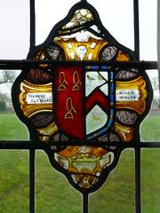 Baddesley Clinton (jacquemart) Tags: baddesleyclinton stainedglass armorial nationaltrust warwickshire