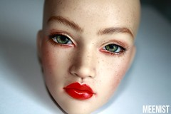 pensive and strong (meenist faceups) Tags: bjd doll iplehouse lahela freckles faceup commission meenistfaceups blushing