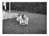 Mum Circa 1960 (Fraser Mummery) Tags: monochrome bw portrait blackandwhite oldgold grass lawn garden bush hedge