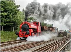 Bagnall 'Kent No 2'. On mixed passenger ........... (Alan Burkwood) Tags: chasewaterrailway brownhillswest bagnall kentno2 steam locomotive