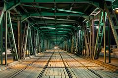 inside the vitula bridge (marco.riminucci) Tags: warsaw varsavia vitula bridge gdański metro night poland rail urban warszawa street steel