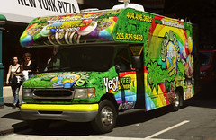 Yes Weed Deliver (Robert S. Photography) Tags: street scene truck weedworld candies signs adverts people manhattan nyc spring sony dscwx150 iso100 may 2018