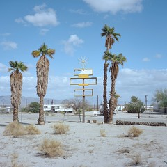 spaces available. desert center, ca. 2018. (eyetwist) Tags: eyetwistkevinballuff eyetwist sign sputnik star desertcenter rv trailerpark vacancy palmtrees blank broken bleak mamiya 6mf 75mm kodak portra 160 mamiya6mf mamiya75mmf35l kodakportra160 6x6 120 square ishootfilm ishootkodak analog analogue film emulsion mamiya6 mediumformat filmexif iconla epsonv750pro lenstagger california roadsideamerica americantypologies decay derelict desolate deadend bypassed interstate i10 dirt old faded american west americana sand doublewide frame retro vintage spacey jetsons starburst