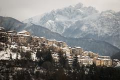 Opi and the Marsicano (luigig75) Tags: parconazionaledabruzzolazioemolise peaks mountains village opi pescasseroli italia italy abruzzo landscape winter 2018 canon 70d 70200f4l canonef70200mmf4lusm
