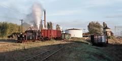 Sroda Wielkopolska PKP  |  1997 (keithwilde152) Tags: px48 px481920 sroda wask wielkopolska poland 1997 station town sugar factory yard tracks passenger mixed train outdoor autumn sun