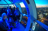 From within... (@petra) Tags: londoneye ride view people london uk nightfall travel nikon notripod river thames glass bluelight interior