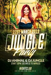 Jungle Party Psd Flyer (Creativeflyers) Tags: psd flyer party template photoshop poster graphic design creative event music festival