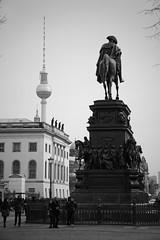 Unter den Linden, Berlin (nickcoates74) Tags: a6300 berlin germany ilce6300 march unterdenlinden fernsehturm statue standbild ehrenmal friedrichdergrosse reitstandbild