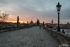 Charles Bridge at Sunrise (stewartl2010) Tags: lessertown charlesbridge prague historic colorefexpro4 nikfilters cityscape oldtown quiet mottledsky sunrise hlavníměstopraha czechia cz