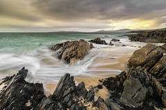 Borve Beach, Isle of Harris, Outer Hebrides, Scotland (MelvinNicholsonPhotography) Tags: borvebeach harris isleofharris outerhebrides hebrides scotland beach sand waves mountains seascape