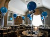 Maplewood Country Club (PartiLife) Tags: centerpieces bigballoons blue lights tulle black greysilver gray