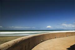 Sunny Beach - [Minimum] (milton sun) Tags: beach minimum minimal minimalism longexposure dusk seascape bay ngc bayarea wave ocean shore seaside coast landscape outdoor clouds sky water rock sea sand cliff nature