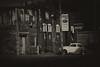 Nostalgic Kansas (Tim @ Photovisions) Tags: kansas car vw bug building sign monochrome blackandwhite nostalgic vwbug alley street cocacola coke