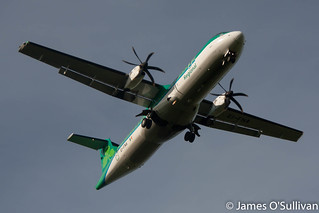 Aer Lingus Regional ATR72-600 EI-FNA on short finals to RWY17 Cork this evening.