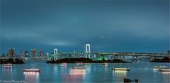 Tokyo Rush (schuetz.photography) Tags: japan rainbow bridge tokyo asia blue water nikon d810 skyline hdr panorama travel world cityscape