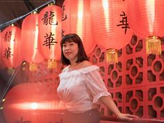 Red Lantern (mikemikecat) Tags: lantern tunnel portrait red hong kong 龍華 sonya7r fe55mm