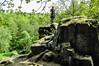 An den Quarksteinen - To the curd to stones. (Karabelso) Tags: trees water flora nature steine felsen green bäume wasser natur grün stone rock granddaughter enkeltochter