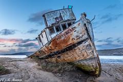 Shipwreck (Ronda Hamm) Tags: tripod ocean 1585mm canon water shipwreck sky boat pointreyesshipwreck pointreyesnationalseashore canon7dii clouds landscape