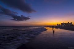 Lonely Walk (千杯不醉的 drunkcat) Tags: beach sunset dusk coneyisland brooklyn newyorkcity