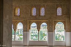 La geometría al servicio de la belleza: La Alhambra. (Xacobeo4) Tags: palacios alhambra de la