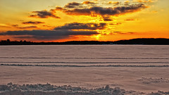 So ... Spring is finally here then ?? (Bob's Digital Eye) Tags: april2018 bobsdigitaleye canon canonefs1855mmf3556isll clouds flicker flickr frozenlake lakeice lakesunset skyscape snow snowscene spring sunset sunsetoverwater t3i