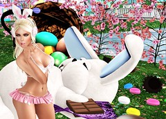 Happy Easter (yumhi) Tags: portrait blonde secondlife 1hundred bunny