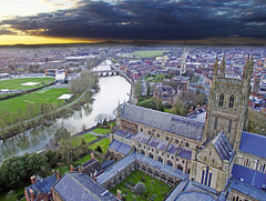 Cathedral Sunset (James.Green2001) Tags: worcester worcestershire cathedral sunset drone dji phantom 3 standard