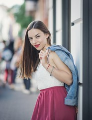 City portrait (Pavel Valchev) Tags: city sofia bulgaria samyang rokinon 85mm walimex a7ii ilce sony emount girl woman manual mf if mirrorless denim jacket nex ff fe wideopen bokeh lightroom photoshop 14